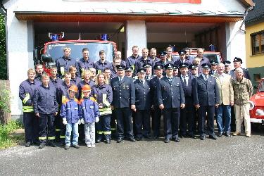 Dies sind die Kameraden der Leimbacher Feuerwehr