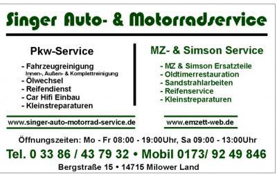 Garages MZ : hier et aujourd'hui Angebot_schild