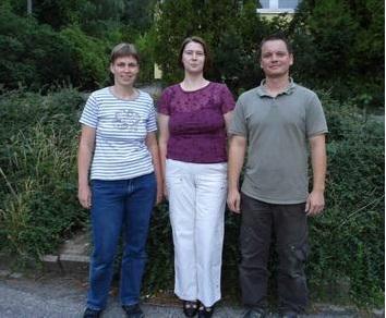 Vorstand des Fördervereins  v.l.: Chr. Schönberg (Schatzmeister), Ramona Urbschat (Vorsitzende), Ronny Düwel (stellv. Vorsitzender)