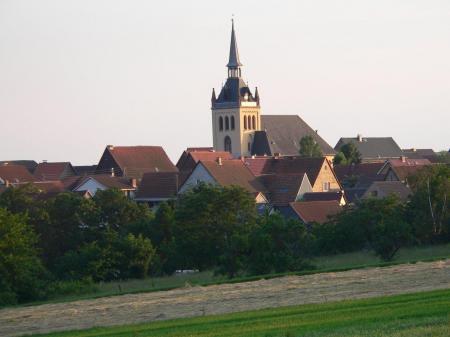 Blick auf den Ort Hayn (Harz)