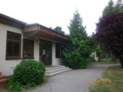 Dies ist der Haupteingang der Hans Grade Grundschule.