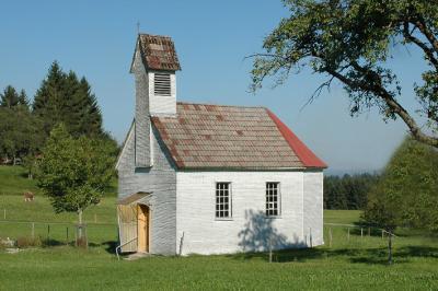 die Kapelle im Ortsteil Litzis