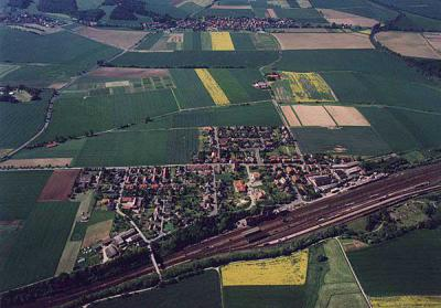 Luftbildansicht von Neu Eichenberg
