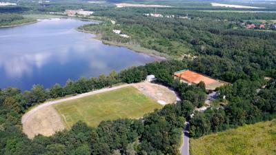 Blick auf die Sportanlagen am Südteich (Foto: 3D-Luftbildservice)