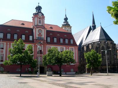 Rathaus und Kirche Sankt Marien / Town Hall and Church Sancta Marian