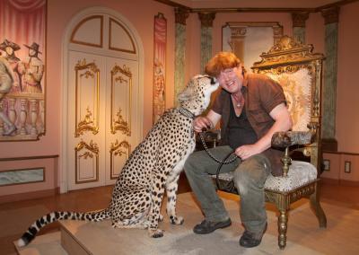 Gerhard Harsch mit Gepardin
