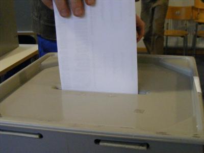 Foto zur Meldung: Stimmzettel für die Wahlen zur Ansicht