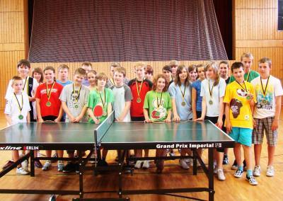 Foto zur Meldung: Dreimal gewinnt Calauer Nachwuchs im Tischtennis