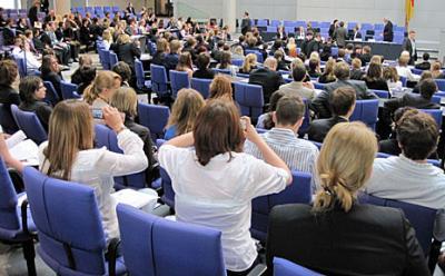 Foto zur Meldung: Jugend und Parlament - Ein Erfahrungsbericht