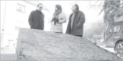 Foto zur Meldung: Grenzstein dokumentiert Zollhäuser Historie