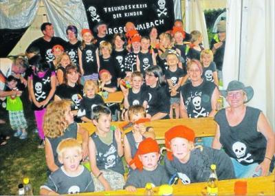 Foto zur Meldung: Viele kleine Piraten entern das Zeltlager