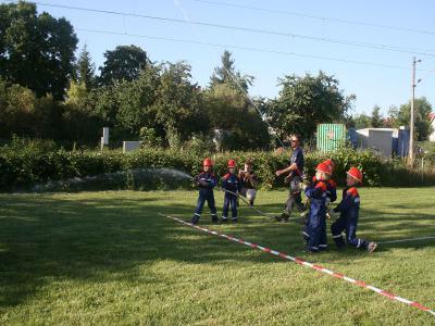 Foto zur Meldung: Familientag bei der Kinderfeuerwehr Roßla