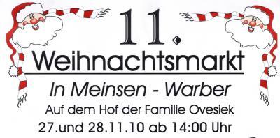 Foto zur Meldung: Weihnachtsmarkt in Meinsen-Warber