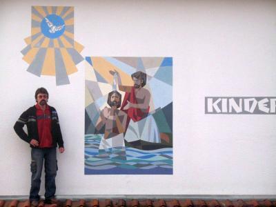 Foto zur Meldung: St. Johannes wacht über Moosbach und den Kindergarten