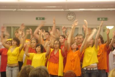 Foto zur Meldung: Einsame Spitze- Schüler Klassen 10- Auftritt in der Philharmonie Berlin