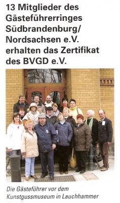 Foto zu Meldung: Beitrag im Bundesorgan der Gästeführer ´(Cicerone)