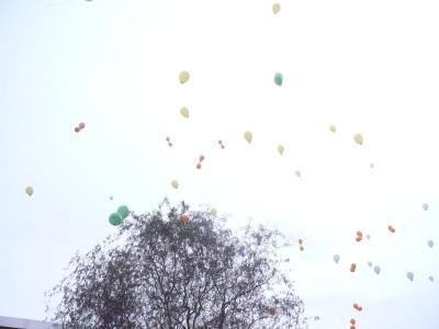Foto zur Meldung: Erste Luftballonpost eingetroffen