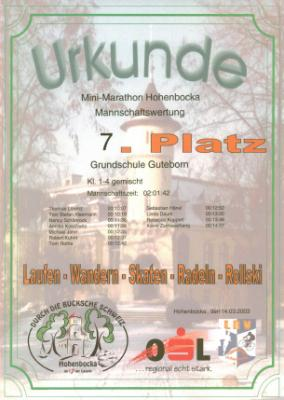 Foto zur Meldung: Minimarathon 2003