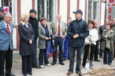 Foto zur Meldung: Grundsteinlegung zur Rekonstruktion des Herbstschen Hauses