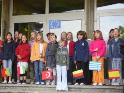 Foto zur Meldung: Europatag an der Grundschule Vier Jahreszeiten Egeln
