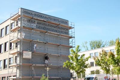 Foto zur Meldung: Kunst am Bau der Schlesier-Oberschule in Calau