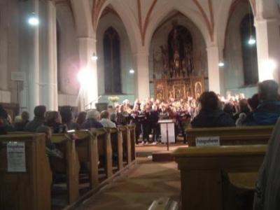 Foto zur Meldung: Jugendchorprojekt  des Kirchenkreises in Mittenwalde