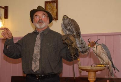 Foto zu Meldung: Falkner gab Einblick in uralte Jagdkunst