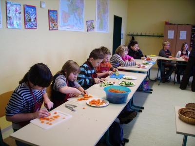 Foto zur Meldung: Ernährungsprojekt Klasse 5