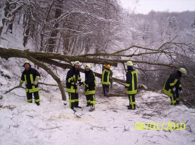 Foto zur Meldung: Arbeitsreicher Jahresanfang für die Feuerwehr der Stadt