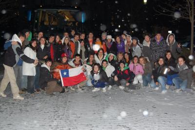 Foto zur Meldung: Chilenische Schüler aus Valdivia zu Besuch in Calau