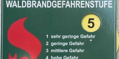 Vorschaubild zur Meldung: Hoche WALDBRANDGEFAHR!