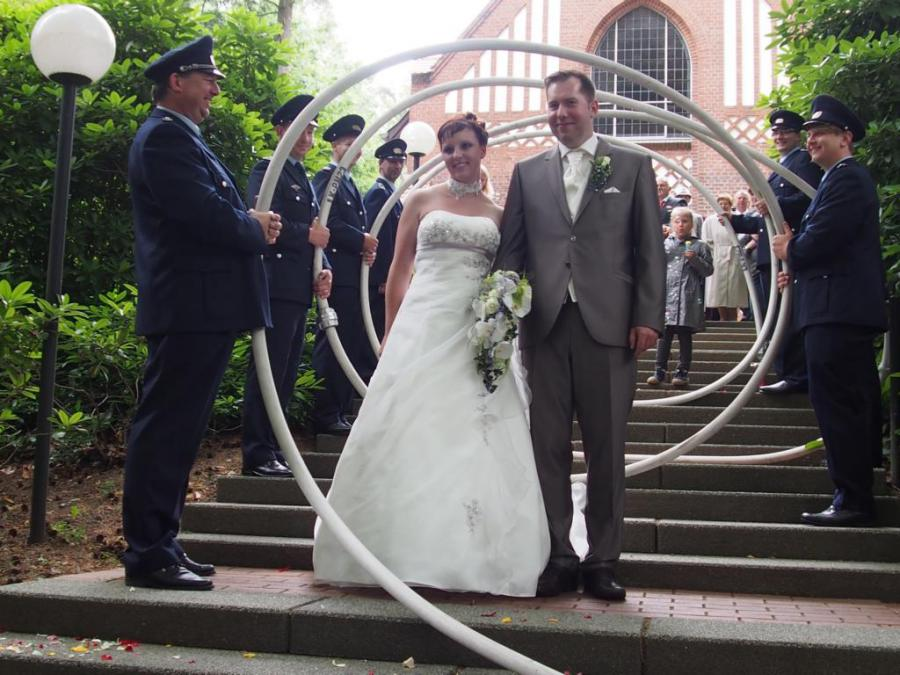 Freiwillige Feuerwehr Dahnsdorf Schlauchspirale Zur Hochzeit Von