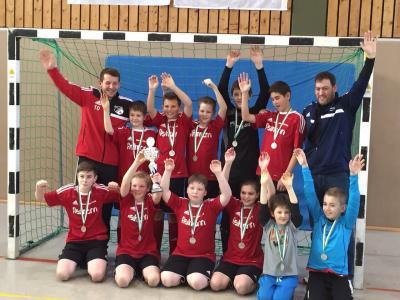Foto zur Meldung: D1-Junioren sind Futsal-Hallenkreismeister 2014/2015