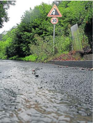 Foto zur Meldung: Ortsgemeinde: Regen lässt Geröll vom Eichelberg in Burgschwalbach rutschen