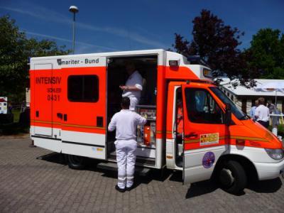 Foto zu Meldung: Der ASB bei der Eröffnung des Gesundheitsforums Kiel