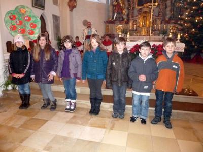 Foto zur Meldung: Sieben Erstkommunionkinder stellten sich vor – Sie treten am 2. Juni an den Tisch des Herrn
