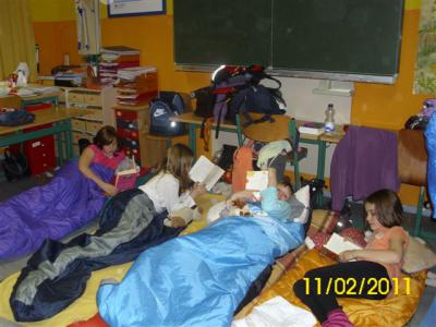 Foto zu Meldung: Lesenacht in der Grund- und Oberschule Schenkenland