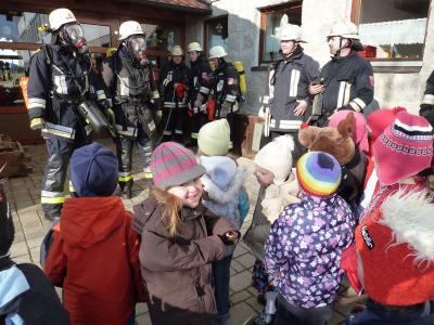 Foto zur Meldung: Feueralarm im Kindergarten – Gott sei Dank war es nur ein Übungseinsatz