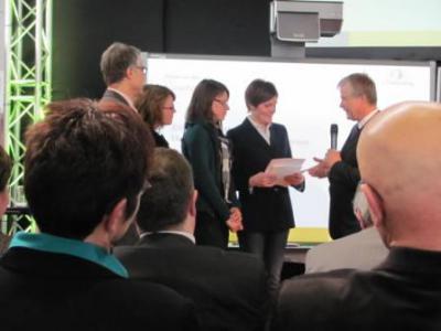 Foto zur Meldung: Deutscher eTwinning Preis in Stuttgart erhalten