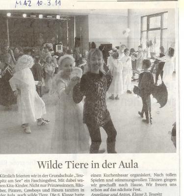 Foto zur Meldung: Teupitzer Schüler schrieben für die Zeitung