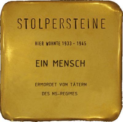 Vorschaubild zur Meldung: Stolperstein in Thomsdorf