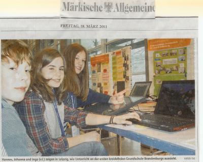 """Foto zur Meldung: Zeitungsartikel """"Leipziger Buchmesse"""""""
