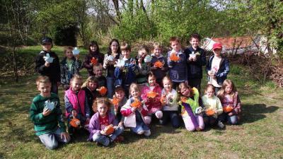 """Foto zur Meldung: Eiersuche in der Grundschule """"Teupitz am See"""""""