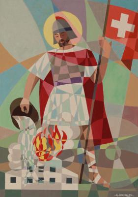 Foto zur Meldung: Der heilige Florian, geschaffen von Kunstmaler Hans Höcherl