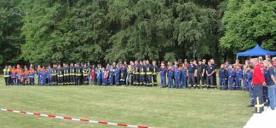 Foto zur Meldung: Feuerwehrwettkampf am 28.05.2011 im Schlosspark Meisdorf