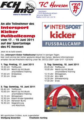 Foto zur Meldung: Start Intersport kicker Fußballcamp