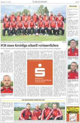 Foto zur Meldung: Vorstellung FC Hevesen 1. Herren Kreisliga 2011/12 in der LZ
