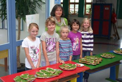 Foto zur Meldung: Das Schulfruchtprogramm kommt bei den Kindern gut an