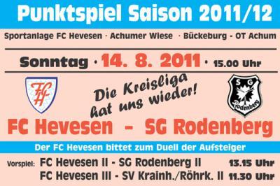 Foto zur Meldung: Kreisligastart des FCH gegen SG Rodenberg