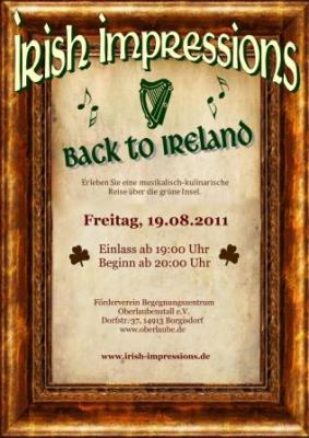 """Foto zu Meldung: Irischer Abend mit """"Irish Impressions"""" am Oberlaubenstall in Borgisdorf"""